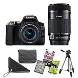 【7点セット】キヤノン デジタル一眼レフカメラ EOS Kiss X10 ブラック ダブルズームキット EOS KISS X10BK-WKIT (3452C003)(キャノン/Canon)
