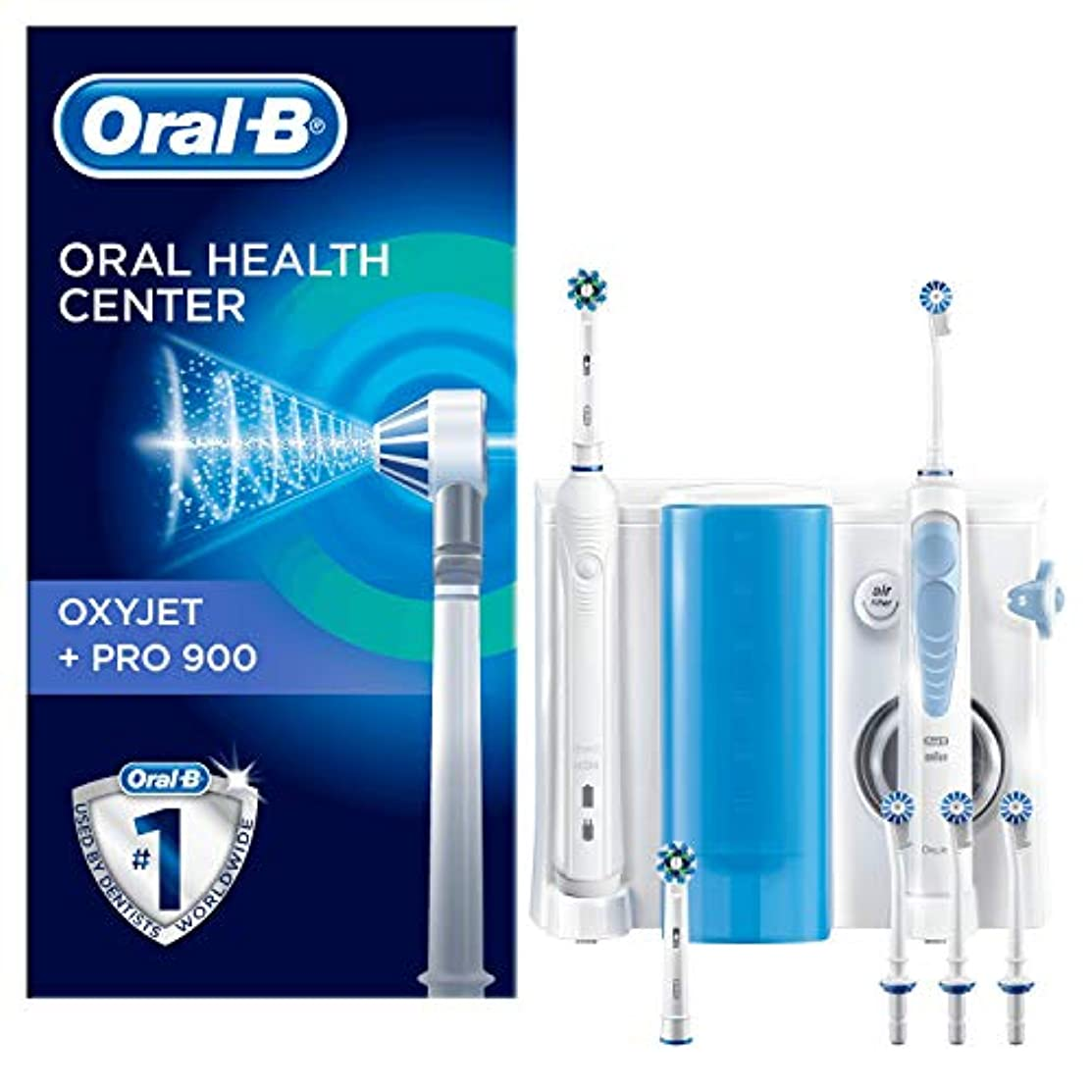 着服バックグラウンド時Oral B Dental Center Oxyjet Irrigator + Electric Brush Pro 900 [並行輸入品]