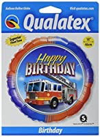 "Pioneer Balloon Company Birthday Fire Truck Foil Balloon, 18"", Multicolor [並行輸入品]"
