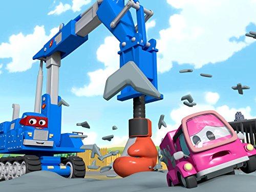 カーシティーのカール・スーパー・トラックとジャイアントドリル&ザンボ二トラック|子供向けトラックアニメ