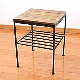 WI サイドテーブル&スツール ナイトテーブル スツール コーヒーテーブル 35x35x45cm