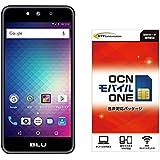 【Amazon.co.jp 限定】BLU(ブルー)GRAND M SIMフリースマートフォン ブラック 専用ケース付 &OCN モバイル ONE 音声通話+LTEデータ通信SIMセット
