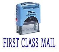 """""""FIRST CLASS MAIL""""セルフインキングゴム印カスタムシャイニーオフィス文房具スタンプ"""