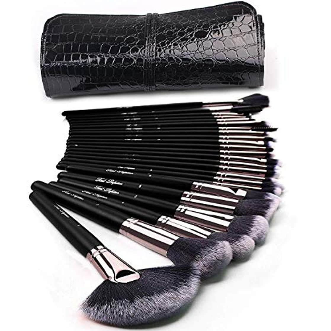 最適ジョグ行商メイクブラシセット コスメブラシ 化粧筆 基本メイクアップ道具 化粧ポーチ付け 24本セット