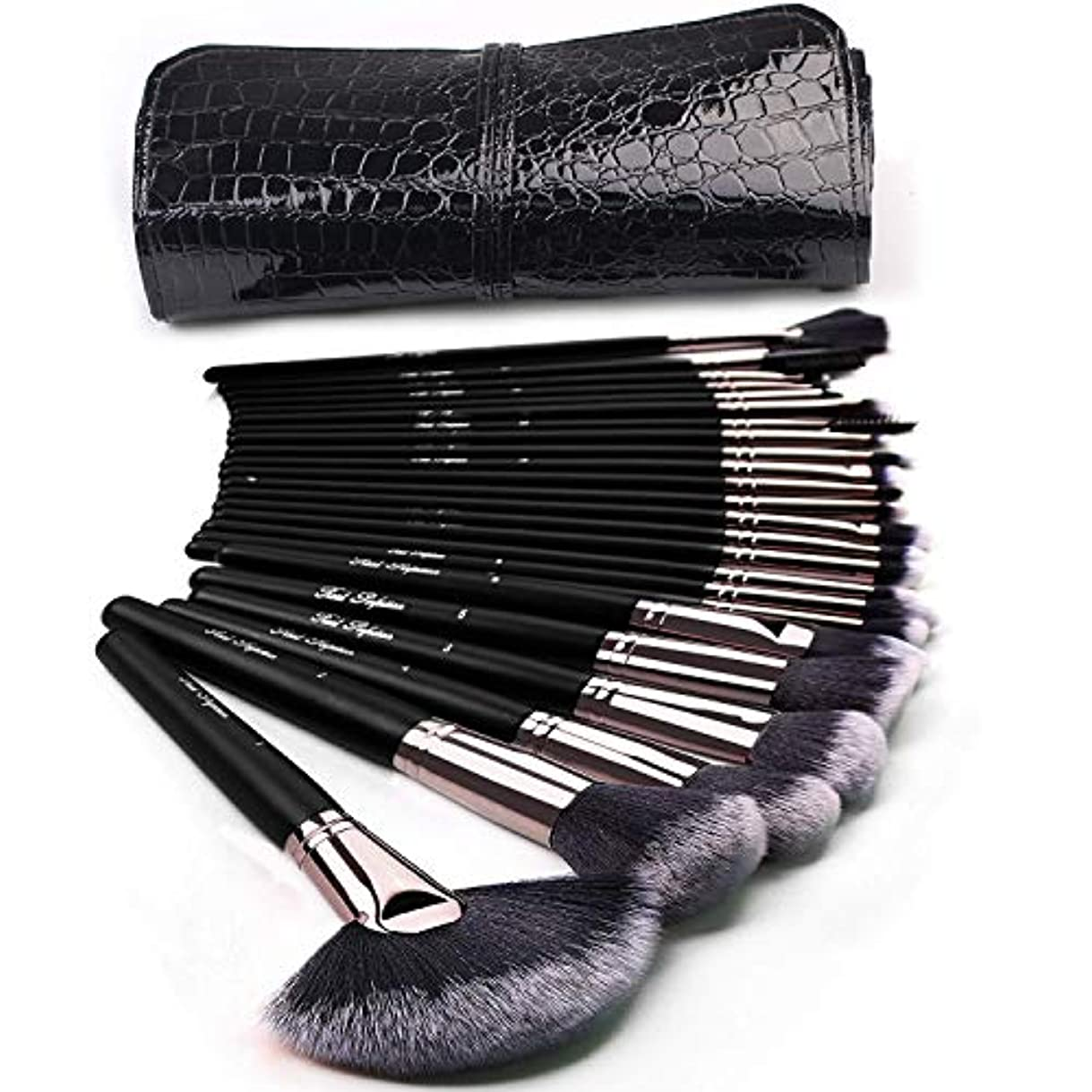 もっと気を散らす絶滅させるメイクブラシセット コスメブラシ 化粧筆 基本メイクアップ道具 化粧ポーチ付け 24本セット
