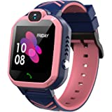Kids Waterproof Smart Watch Phone, GPS/LBS Tracker Smart Watch for Kids for 3-12 Year Old Compatible iOS Android Smart Watch