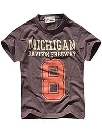 bb4d7219e97c9 Amazon.co.jp  ブラウン - Tシャツ・カットソー   ボーイズ  服 ...