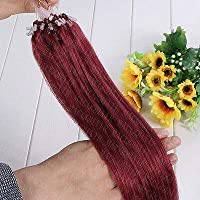 FidgetGear 7A 16-26インチのRemyの人間の毛髪延長の容易なループマイクロリングシリコーンビーズ バグ