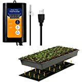 "MQFORU AU Plug SAA Certified Seedling Heat Mat, with 42℉~108℉ Digital Thermostat Controller for Seed Germination (10"" x 20"")"