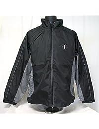 新しいジョン?デーリーGolf Rain Suitジャケットパンツ防水ブラックグレーサイズXXL