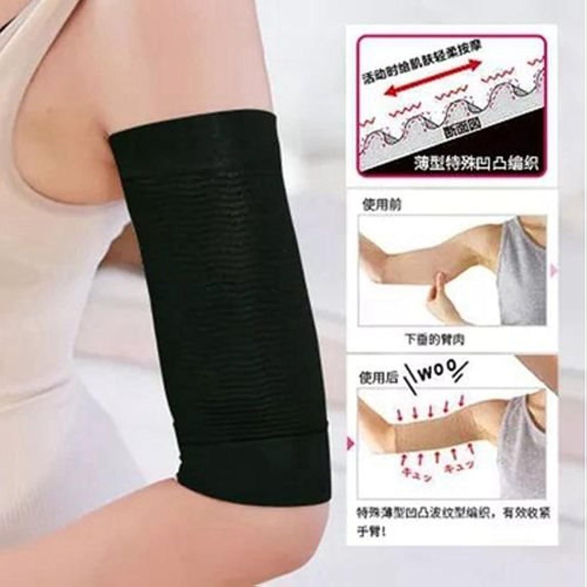 アニメーションブリリアントバーチャルThreeCat ダイエット 腕2枚組 420D マッサージ 脂肪燃焼 バストアップレディース 女性 二の腕シェイパー size 20~30cm (ベージュ)