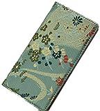 iphone6 6s ケース 和柄で高品質 手帳型 (アイフォン6 6s ケース) 高級品の西陣織り (みどり流れ)