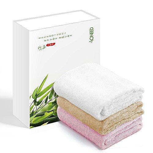 タオル Aoneed 竹繊維 なめらかタッチ 抗菌防臭 速乾 お肌サラサラ•瞬間吸水 祝いプレゼント 3枚セット