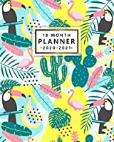 2020-2021 18 Month Planner: Pretty Flamingo & Cactus Organizer with Weekly & Monthly Views - Cute Tropical Floral & Toucan Calendar & Schedule Agenda with To Do's, Inspirational Quotes, Vision Boards & More
