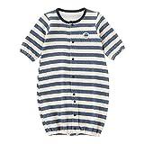 (チャックル) chuckle ボーダー新生児ツーウェイオール ブルー 50-60cm P5143-00-31