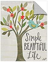 Tremont Hill Katie Doucette ''Simple Beautiful Life'' Removable Wall Art Mural, 14X18 [並行輸入品]