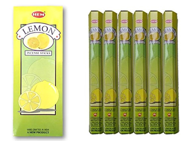 ために粗い送信するHEM(ヘム)/お香スティック/レモン/1ケース(1箱20本×6箱)