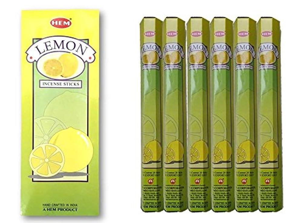 複雑製造望まないHEM(ヘム)/お香スティック/レモン/1ケース(1箱20本×6箱)