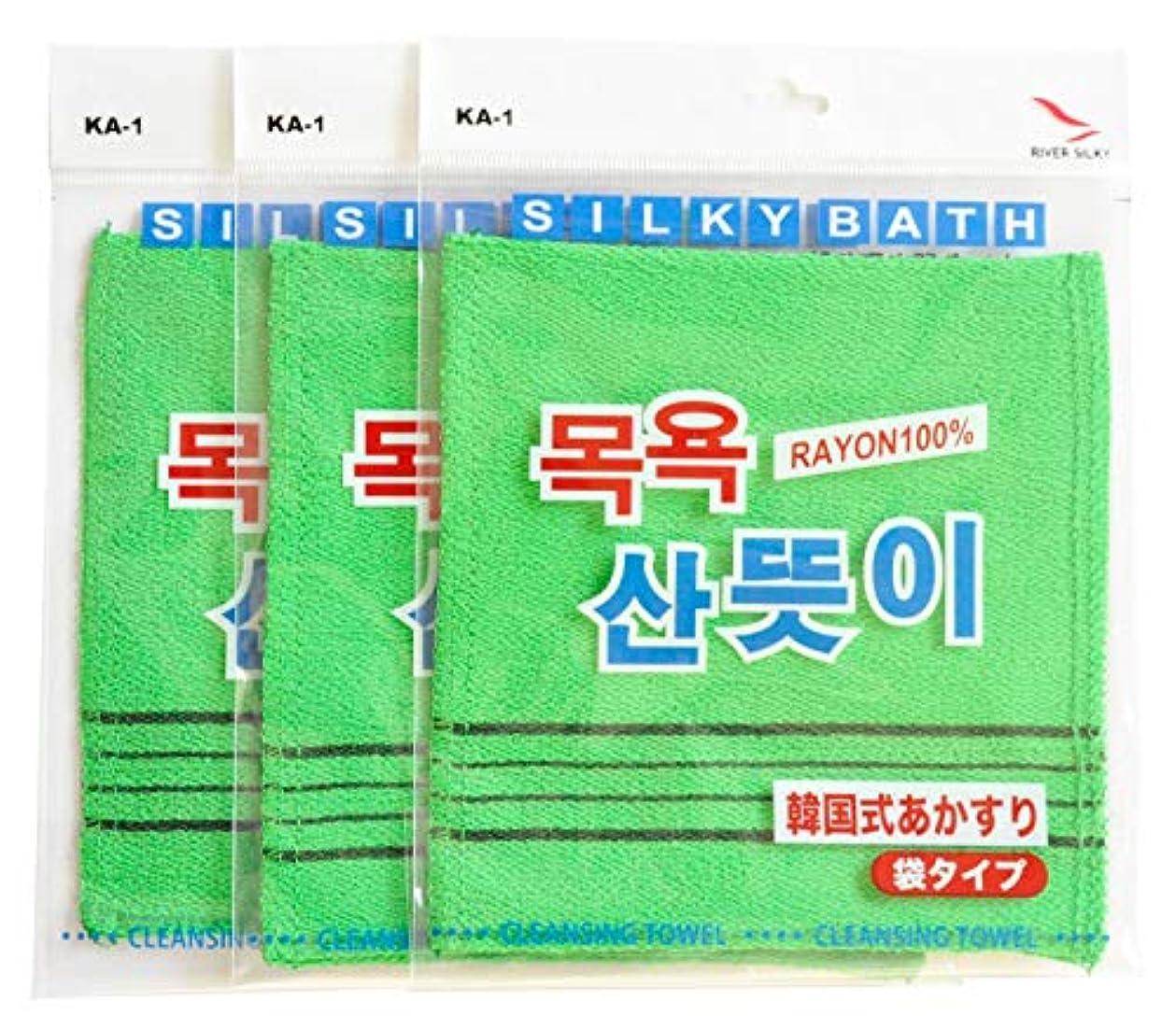 決めます人気ハンディキャップ韓国発 韓国式あかすり 袋式 3枚セットKA-1A
