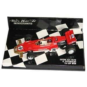 PLANEX ミニチャンプス製 ロータス72 1/43スケールモデル フィッティバルディ (Minichamps Scale Models 1:43 Lotus 72 E. Fittipaldi) LOT-SM-MC72F