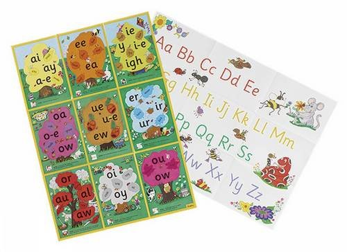 Jolly Phonics Alternative Spelling & Alphabet Posters: in Precursive Letters (BE)
