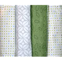 100% cotton baby receiving blankets (Leaves and polka dots) [並行輸入品]