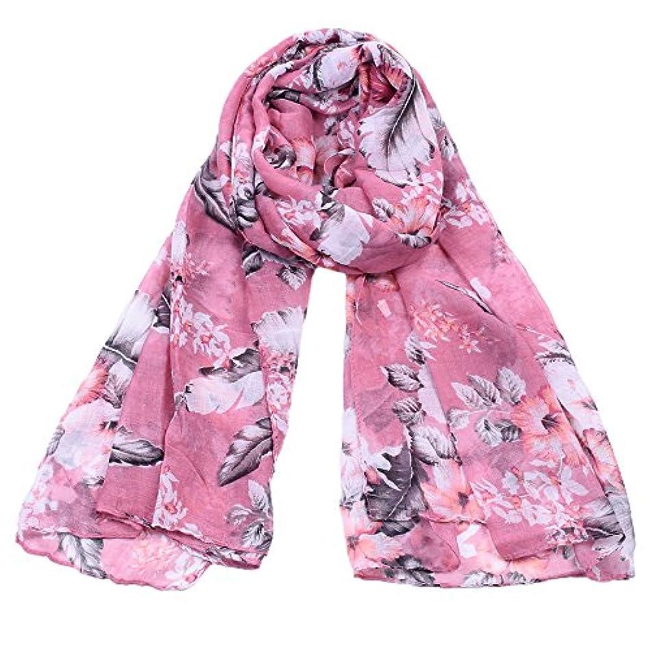 鯨うがいナイロンRuiyue 春夏秋秋新ファッションシルクスカーフレディース植物抽象的なフラワープリントスカーフVoile女性ギフト