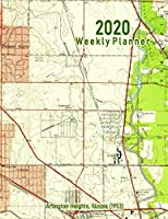 2020 Weekly Planner: Arlington Heights, Illinois (1953): Vintage Topo Map Cover