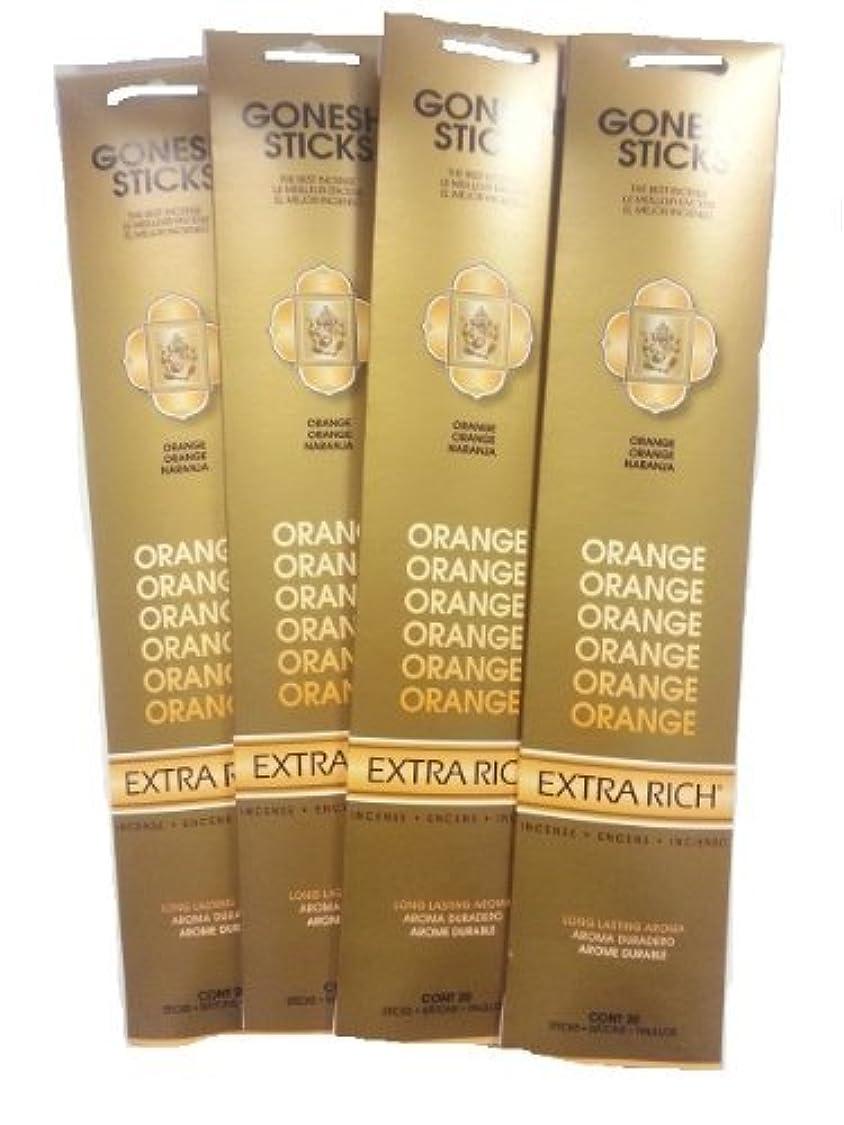 南極参照する分類するGonesh Incense Sticks – オレンジLot of 4