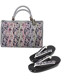 新品 草履バッグセット フリーサイズ (7) 西陣 小池織物 正絹帯地使用 草履 バッグ
