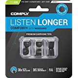 Comply(コンプライ) Tsx-200 ブラック SML各1ペア入り3ペア アジアンフィット 耳垢ガード付き イヤホンチップス Comfort+ Sony WF-SP700N, WF-1000X, MDR-XB, B&O Play E8, H5, MEE Audio, Phillips SHE9720他 高音質 遮音性 フィット感 脱落防止イヤーピース 「国内正規品」HC29-20200-01