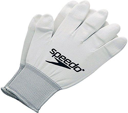 SPEEDO(스피드)수영경기 수영복용 피팅 글로브 장갑 SD95A51A W화이트- (Size:F)