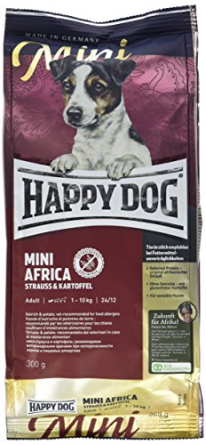 ハッピードッグ ミニ アフリカ(ダチョウ) グレインフリー 食物に敏感な小型犬のアレルギーケア 成犬-高齢犬用 小粒 300g