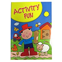Boys Creative A4 Activity Book, 60 Pages, Farm, Pirates, Dinosaurs and More