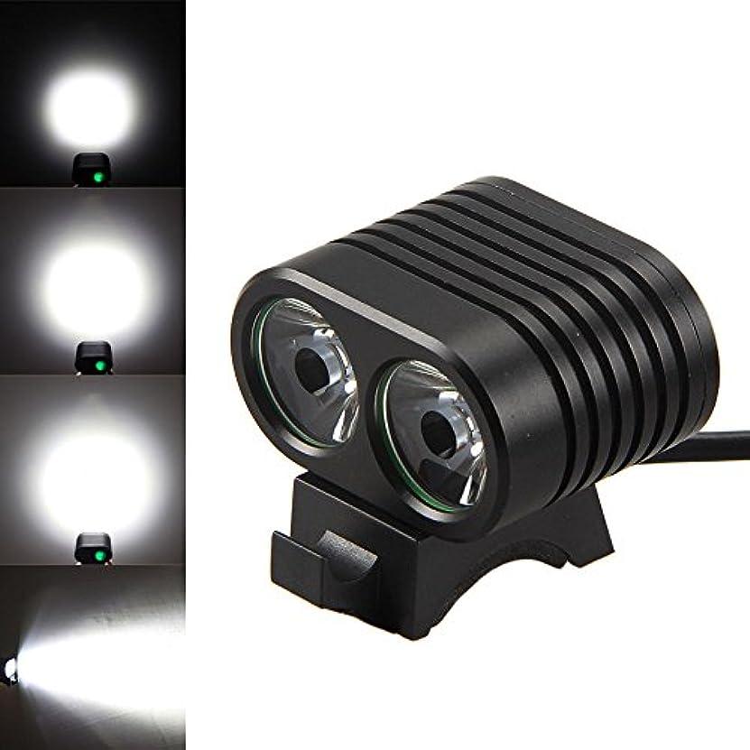 特殊トラップくまYolaird 高輝度 自転車前照灯 800ルーメン 2 x XM-L2 LED電球 4段階モード機能付き サイクリング 自転車ライト バイクヘッドライト 防水 照明 小型 軽量 防災対策 自転車