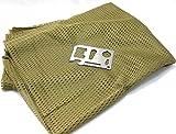 タクティカル フェイス マスク メッシュ スカーフ 150 × 40 cm マルチ ツール セット (カーキ)