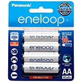 Panasonic Eneloop Rechargeable Batteries, AA, 4 Count
