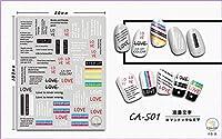 超薄型自己接着3Dネイルアートネイルスライダーステッカー落書き記号テキストテキスト文字レタータイガースキンCA501-507 CA501