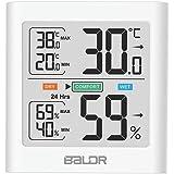 温度計 湿度計 デジタル 人感センサー搭載 室外 室内 温湿度計 高精度 ワイヤレス 小型 バックライト付き 置き掛け 強力マグネット 快適レベル表示 温度湿度計 外気温度計 温湿度傾向表示 乾燥対策 熱中症 健康管理 ESOLOM