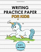 Writing Practice Paper For Kids: Handwriting Unicorn Notebook for kids 6x9 120 pages, Learn to write alphabets  and improve writing skills with dotted journal for primary, preschool, school, kindergarten, Preschoolers.