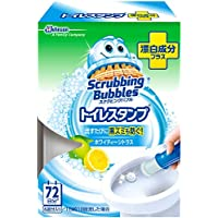 スクラビングバブル トイレ洗浄剤 トイレスタンプ 漂白成分プラス ホワイティーシトラスの香り 本体 (ハンドル1本+付替用1本) 6スタンプ分 38g