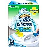スクラビングバブル トイレ洗浄剤 トイレスタンプ 漂白成分プラス ホワイティーシトラスの香り 本体 (ハンドル1本+付替用1本) 6スタンプ分