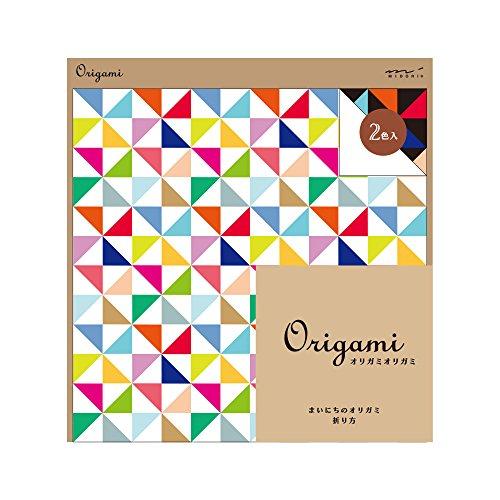 折り紙 15cm角 風車柄 20枚(10枚×2色) デザインフィル 34394006