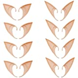 Kbraveo 8 Pairs Fairy Pixie Elf Ears,Latex Fairy Pixie Elf,Cosplay Ears for Cosplay Halloween Christmas Any Themed Party
