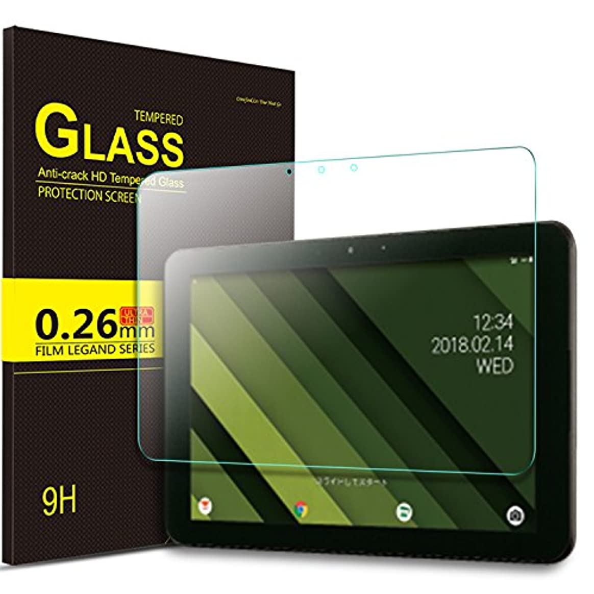 ラバ上げる信頼性のあるIVSO Qua tab QZ10 KYT33 タブレット ガラスフィルム 新型 au Qua tab QZ10 タブレット 強化ガラスフィルム 耐指紋 撥油性 表面硬度9H ラウンド加工処理 飛散防止処理 高透過率 光沢表面仕様 画面保護 指紋防止 保護シート - Au Qua tab QZ10専用 液晶保護フィルム