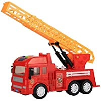 Large construction vehicles Toys with音楽とライトの子、Fire Truck