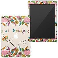 igsticker 第6世代 第5世代 iPad 9.7インチ iPad 6 / 5 2018/2017年 モデル A1893 A1954 A1822 A1823 スキンシール apple アップル アイパッド タブレット tablet シール ステッカー ケース 保護シール 背面 007939 ユニーク 花 フラワー イラスト 蜂
