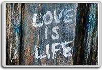 Love Is Life (Graffiti) - Motivational Quotes Fridge Magnet - ?????????
