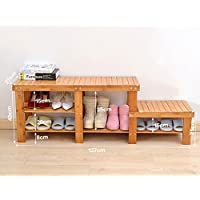 靴のラックソリッドウッド家庭の戸口経済的なタイプのモダンなシンプルな多層靴のベンチ (サイズ さいず : G g)
