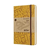 Moleskine 2019 12M Limited Edition Harry Potter Daily, Large, Daily, Beige, Hard Cover (5 x 8.25)